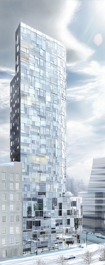 Vue d'ensemble de l'immeuble de Jean Nouvel à New York