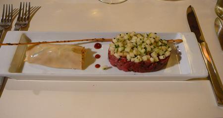 Monjul restaurant Paris tartare boeuf canneloni grany