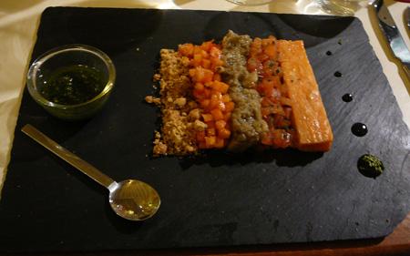 Monjul restaurant Paris déconstruction légumes