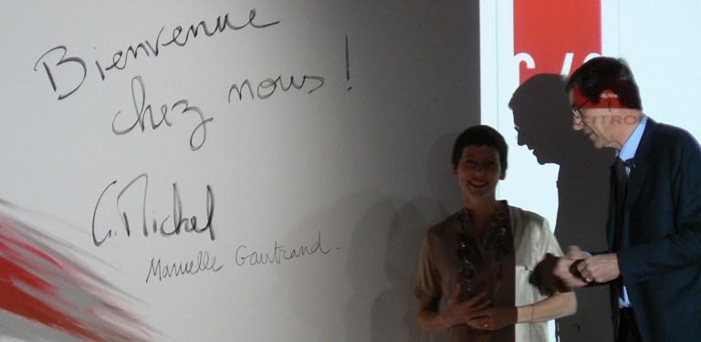 Manuelle Gautrand et Gilles Michel vous souhaitent la bienvenue dans ce nouvel espace