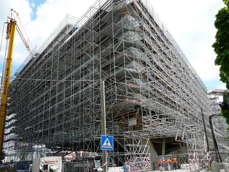Musée Porsche de Stuttgart en construction chantier museum