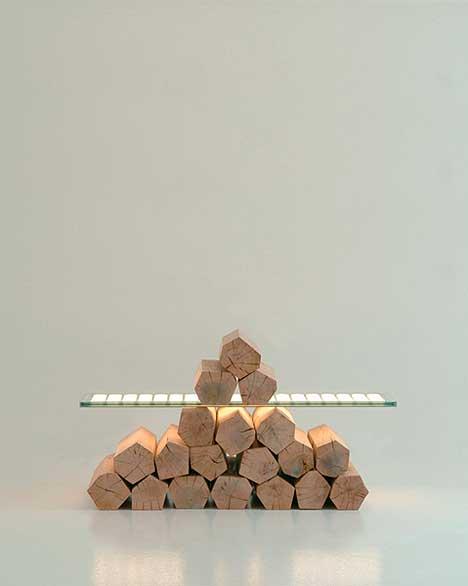 Saazs verre lumineux Planilum par Aryk Levy