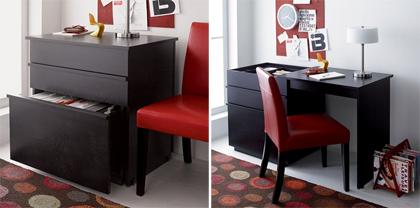 Objet extensible pour petit appartement le bureau diisign - Bureau console extensible 2 en 1 ...