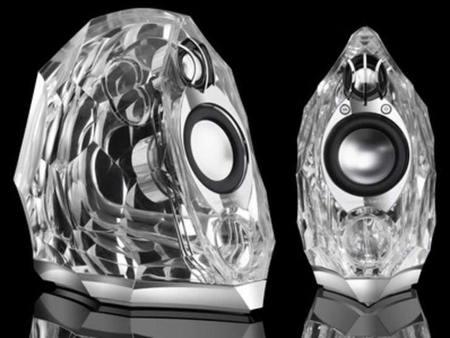 haut parleurs multimédia Harman Kardon cristal tendance polygone/diamant