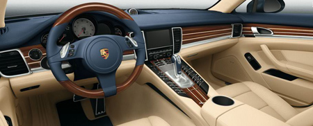 La porsche panamera se d voile int gralement diisign for Interieur de voiture de luxe