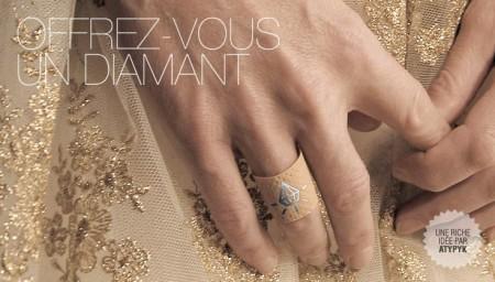 Atypyk sparadrap bague diamant