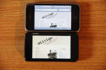 Test Nokia N900 comparatif iPhone 3G