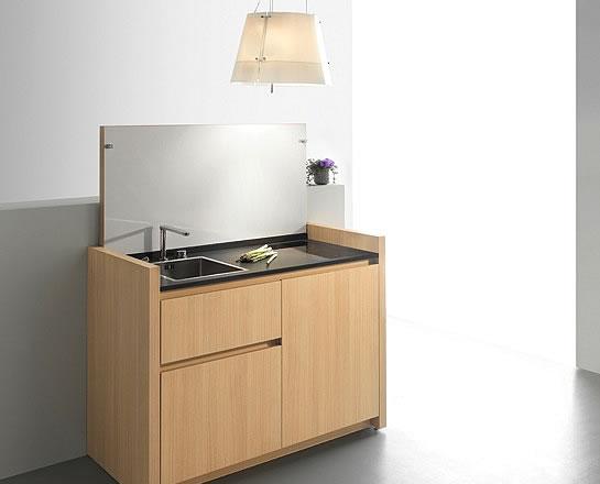 maison objet kitchoo k1 la kitchenette id ale pour les petits appartements ou presque. Black Bedroom Furniture Sets. Home Design Ideas