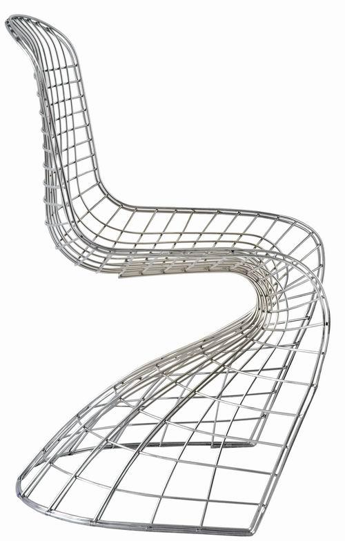 chaise design pantoia panton lepelican | diisign - Chaise En Fil De Fer