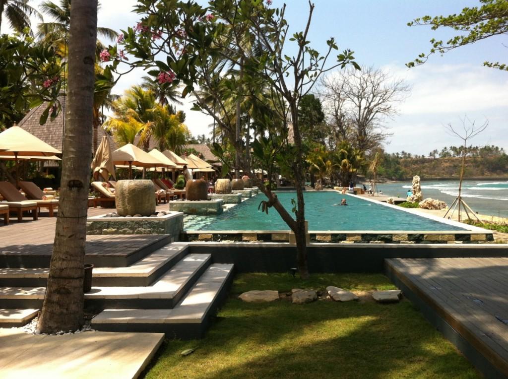 Quncy Villas Lombok Indonésie test piscine