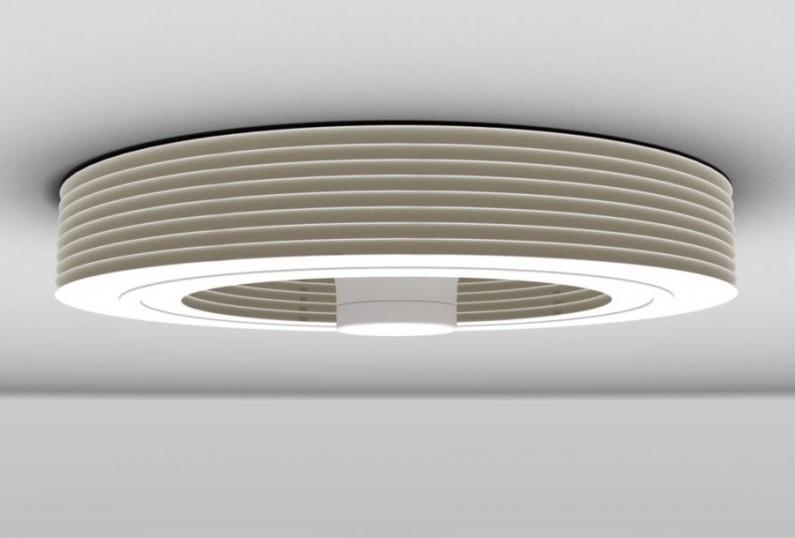 Ventilateur plafond blanc Exhale sans pales