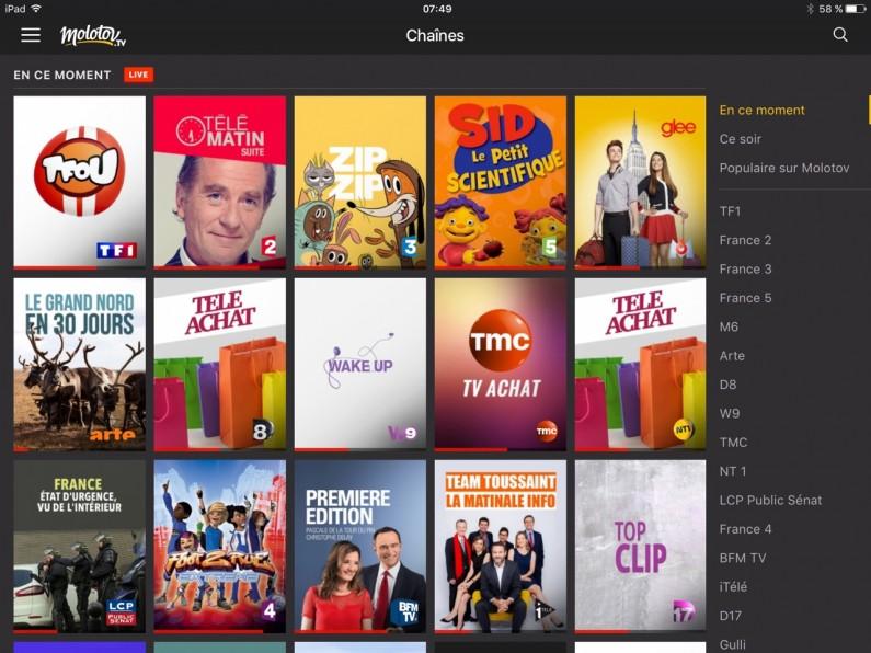 Molotov TV test iPad Apple TV