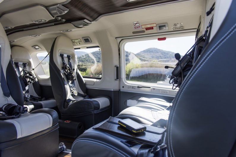"Luxury helicopter ""H145 by Mercedes-Benz Style"" from Airbus Helicopters."