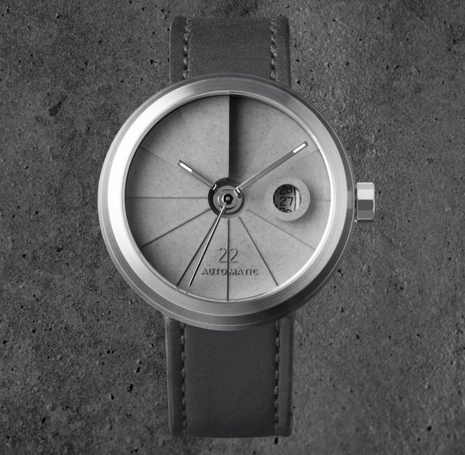4D concrete watch minimal model st