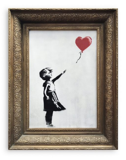 Banksy Girl with balloon Sotheby's