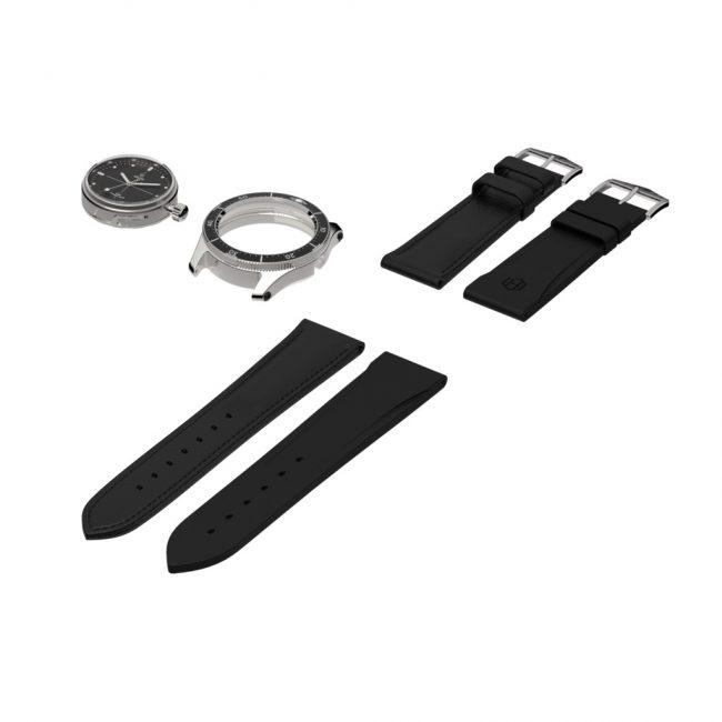 hedged montre noire modulaire