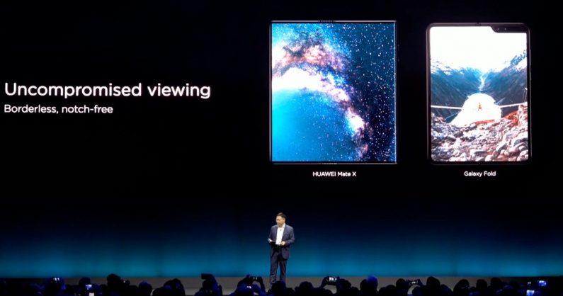 comparaison galaxy fold Mate X samsung Huawei
