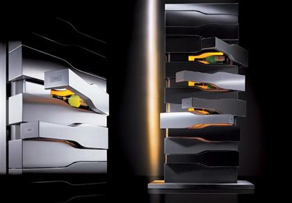 Porsche Design Vertical Limitcave à champagne