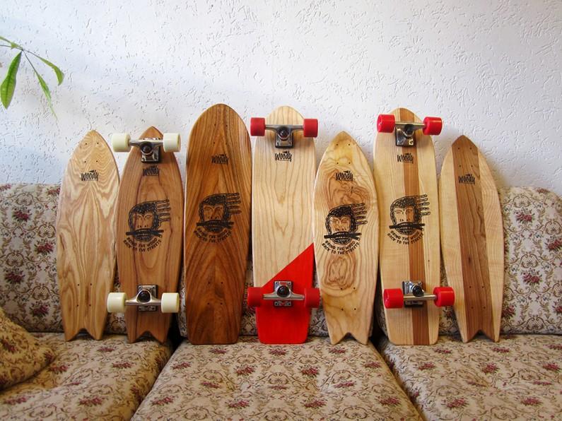 Woody Skateboards : le bois c'est hype, surtout quand l'arbre devait déjà être abattu