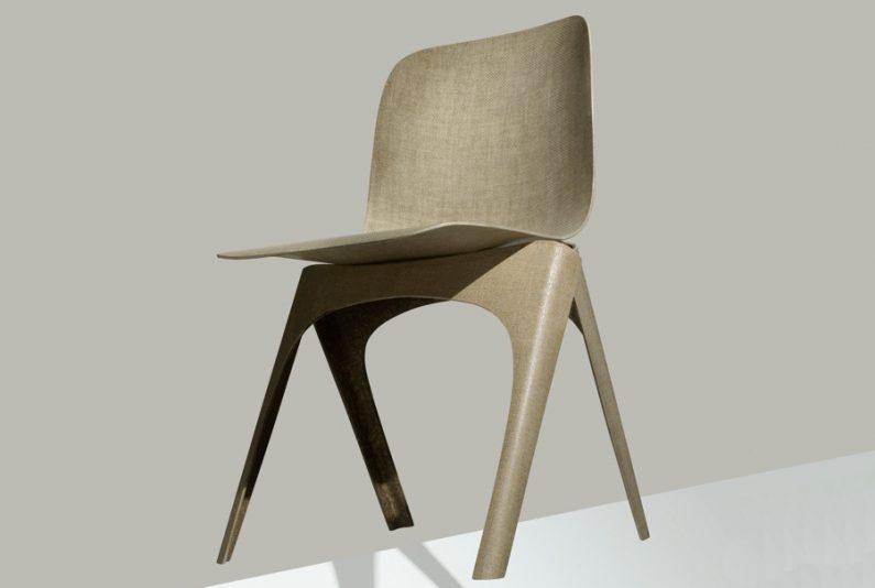 Christien Meindertsma signe une chaise… Biodégradable